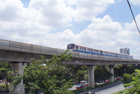 The Skytrain in Bangkok