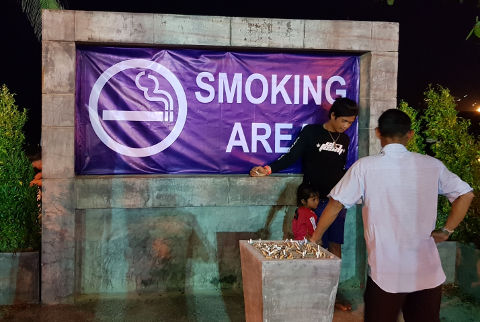 Smoking zone