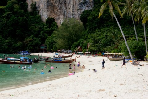 The Ton Sai Bay Beach
