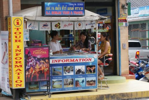 Tourist stall in Patong